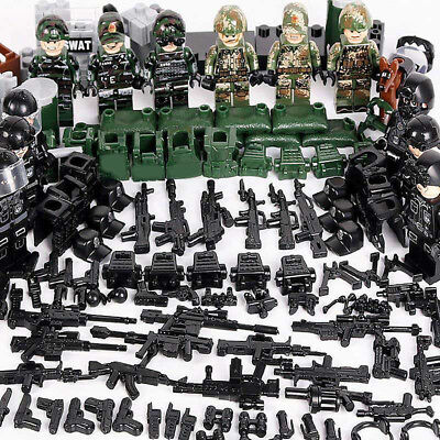 Classic Military lego Soldiers Building Block SWAT Police Special Force Army