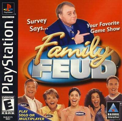 FAMILY FEUD (SONY Playstation- PS1)- Complete- Tested