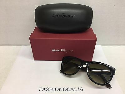 075048b534 SALVATORE FERRAGAMO SUNGLASSES SF685S 001 Black   Brown Woodgrain ...
