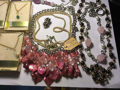 Vintage lot of estate jewelry necklaces,pearl?necklaces, etc.