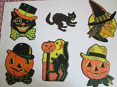 Vintage Beistle Halloween Decorations Cut Outs