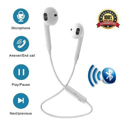 86aaeca8b10 Upgraded S6 Bluetooth Headphones, Wireless Sports Earphones V4.1 Stereo  Earbuds