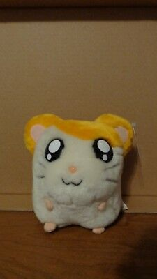 "Hamtaro Plush Coin Bank Hamster Hamham 6""  2002"