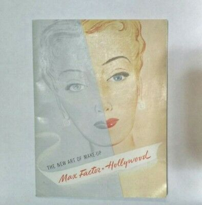 """Rare 1950 """" The New Art Of Make-Up Max Factor Hollywood"""" Booklet"""