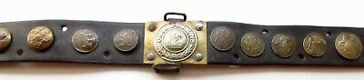 "WW 1 German Army Belt with ""Trophy"" English Uniform Buttons"