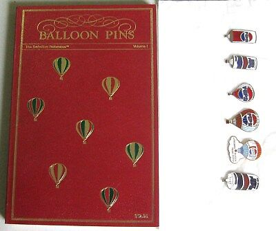 NEW LOT of 6 PEPSI Hot Air Balloon Pins Badges and Reference Pin Book