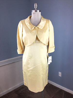 d316eecaae New Rickie Freeman Teri Jon Yellow Dress Bolero 6 8 10 Satin Formal Evening   645