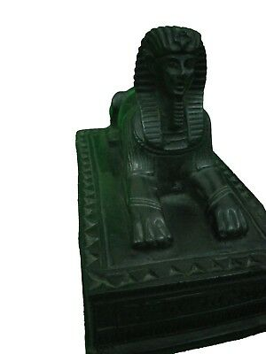 RARE ANCIENT EGYPTIAN ANTIQUE Statue Pharaoh Sphinx Giza Box Figurine Stone Bc