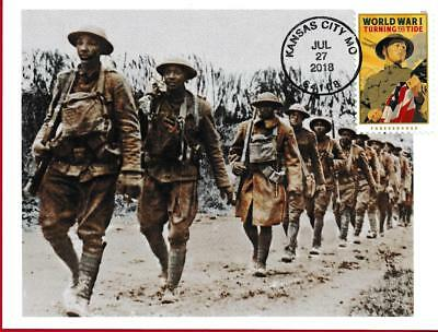 World War I, African American Soldiers, WWI, Maximum Card