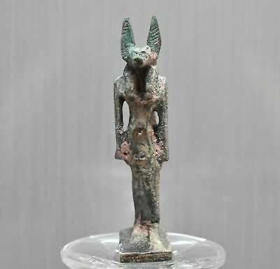 ANCIENT ANTIQUE ANTIQUITIES Egyptian stone ANUBIS statue (1500–300 BC)