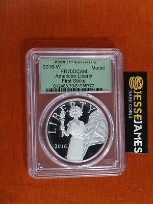 2016 W American Liberty Proof Silver Medal Pcgs Pr70 Dcam First Strike