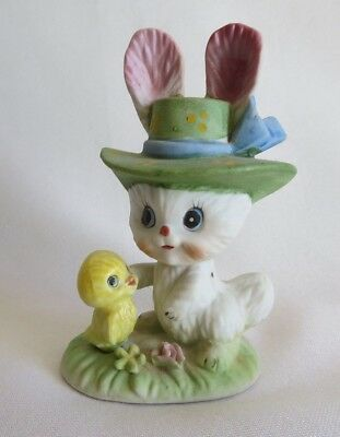 Vintage Easter Bunny and Chick Figurine