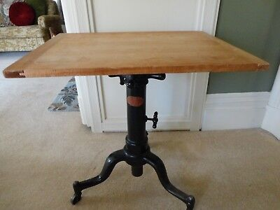 "Vintage ""Satellite"" table from Adjustable Table Co. (Grand Rapids)--Excellent!!"