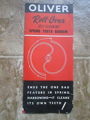 Oliver Roll Over Spring Tooth Harrow Brochure (Antique Tractor Brochure)
