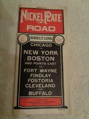 1920's 1930's  Nickel Plate Road  Railway Railroad Time Tables
