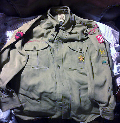 Vintage 1940's Boy Scouts Of America Queens New York Scout Uniform w/ Knickers