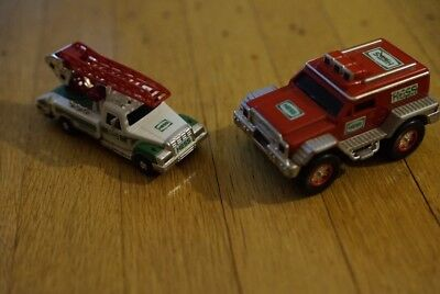 Hess Truck Lot- 2005 Rescue Jeep And 2007 Gas Truck With Ladder