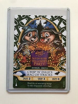 Sorcerers Of The Magic Kingdom Chip And Dale Halloween Party Card MNSSHP