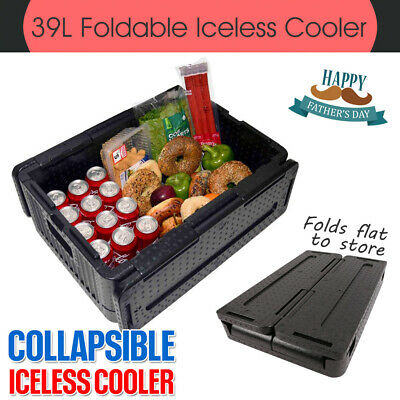 Collapsible Iceless Cooler Lightweight Foldable 39L XL Chill Chest Stackable