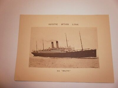 White Star Log Abstract S.s. Baltic 1931