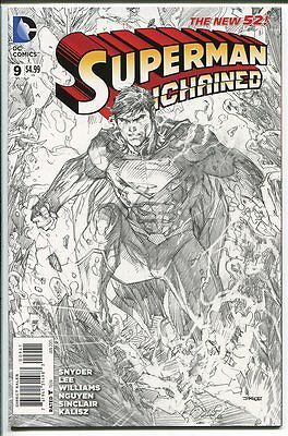Superman Unchained #9 Sketch Variant 1:300 Jim Lee Dc Comics 2015 Nm