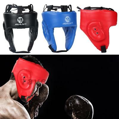 MMA Boxing Head Guard Leather Protective Headgear Lightweight New For Kids/Adult