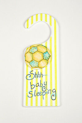 Door Hanger x 8 - Wholesale - 'Shh Baby Sleeping' - Soccerball/Soccer - New