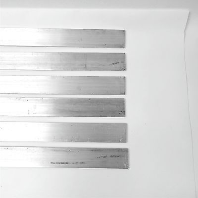 ".375"" x 2"" Aluminum Solid 6061 FLAT BAR 15""Long mill stock Pieces 6 sku K600"