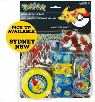 POKEMON BIRTHDAY PARTY SUPPLIES MEGA FAVOUR Pack Of 48 Pcs Genuine Licensed