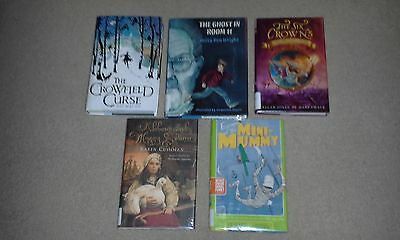 5 Young Adult Books- HC- Escape of the Mini-Mummy, The Ghost in Room 11, Alchemy