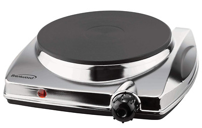 Brentwood TS-337 1000w Electric Hotplate, Silver