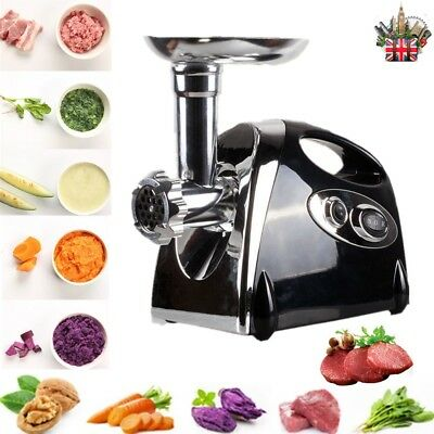 2800W Electric Meat Grinder Mincer Stainless Steel Sausage Filler Maker Kitchen