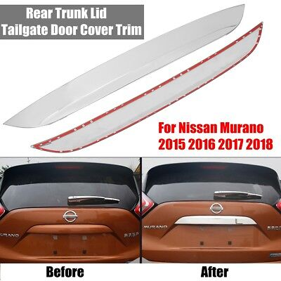 CITROEN C4 2004-10 CHROME TRUNK DOOR REAR HANDLE COVER BOOT MOLDING STAINLESS S.
