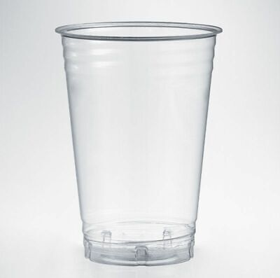 Biodegradable Half Pint Glasses Eco Friendly Compostable Tumblers - Pack 50