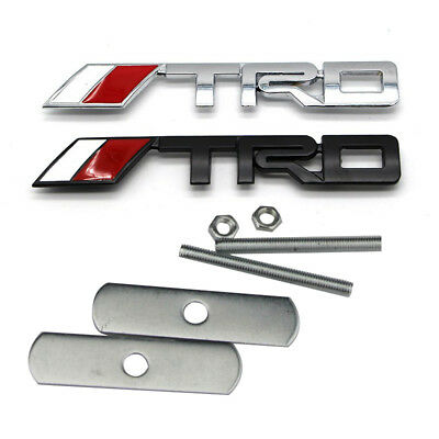 3D Chrome TRD Letters Auto Front Grille Emblem Badge For Universal Fit Brand New