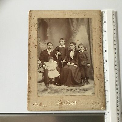 ANTIQUE FAMILY  PHOTOGRAPH - 'PARIS PANEL' - LATIMER - FITROY opp FOYS.MELBOURNE