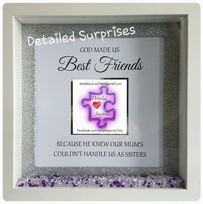 3D HANDMADE PERSONALISED Box Frames Best Friend Gift With Photo ...