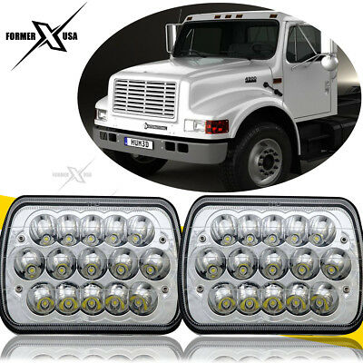 7x6'' inch LED Headlights H6054 For International 4700 4900 4800 4100 8100 Dodge