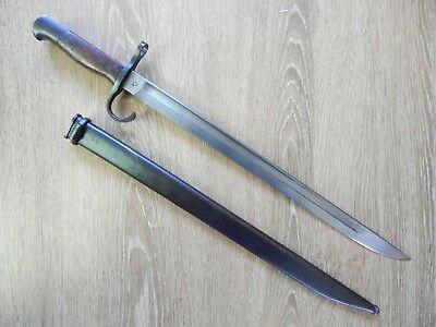 [ Nice ] Ww2  Japanese Early Type 30 Hooked Guard Bayonet & Scabbard