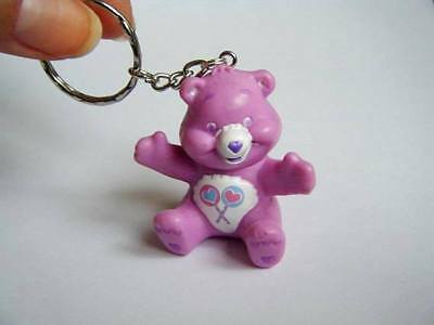 Porte clés Bisounours violet ♥ Purple Care bear keychain