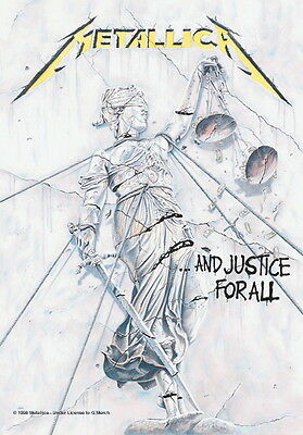 "Metallica Flagge / Fahne ""and Justice For"" Poster Flag Posterflagge"