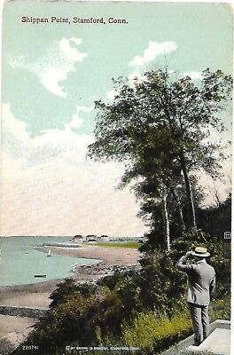 Antique Post Card Shippan Point Stamford Connecticut CT 1915