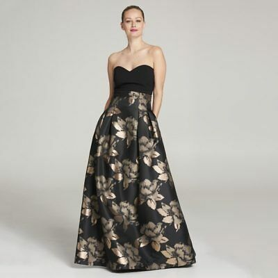 Eliza J Separate Ball Gown Floral Print Maxi Skirt Ej7m5804 Black