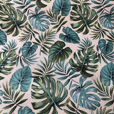 New World Tapestry Fabric Barbados Plant 140cm