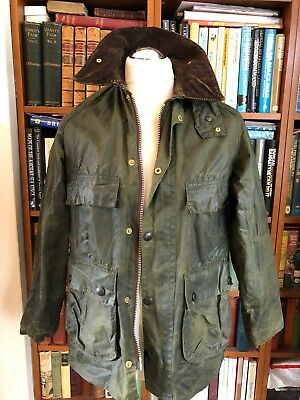 Vintage Wax Barbour Bedale Green  Oversized Jacket Size 36In/91Cm