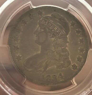 CERTIFIED 1834 large date small letters ,  Bust half , PCGS XF45