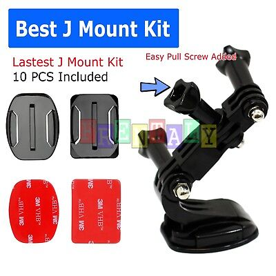 Helmet Front Mount J-Hook Buckle for Gopro Hero 6/5/4/3/2 and 3+Plus session