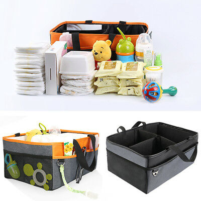 Baby Diaper Caddy Tote - Nursery Storage Bin and Car Organizer for Diapers