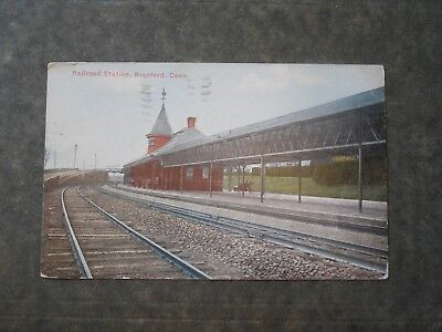 Post Card  H85651  Branford, CT  Railroad Station  c-1910