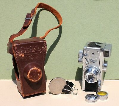 Antique / Vintage 16 mm Steky Model III Camera Stekinar Anastigmat 1:3.5 F=25mm